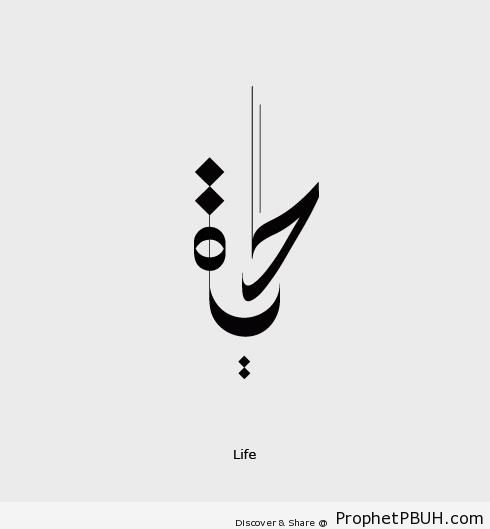 Hayat Life Calligraphy In Arabic Islamic Calligraphy And