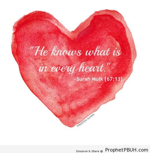 He Knows (Quran 67-13) - Islamic Quotes