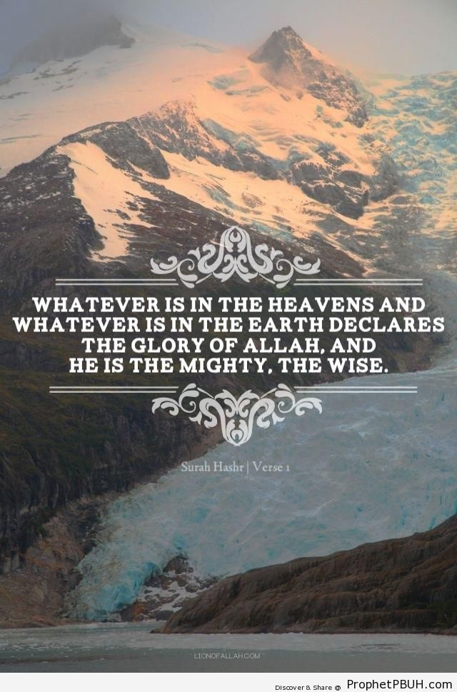 He is the Mighty, the Wise (Surat Hashr - Verse 1) - Photos