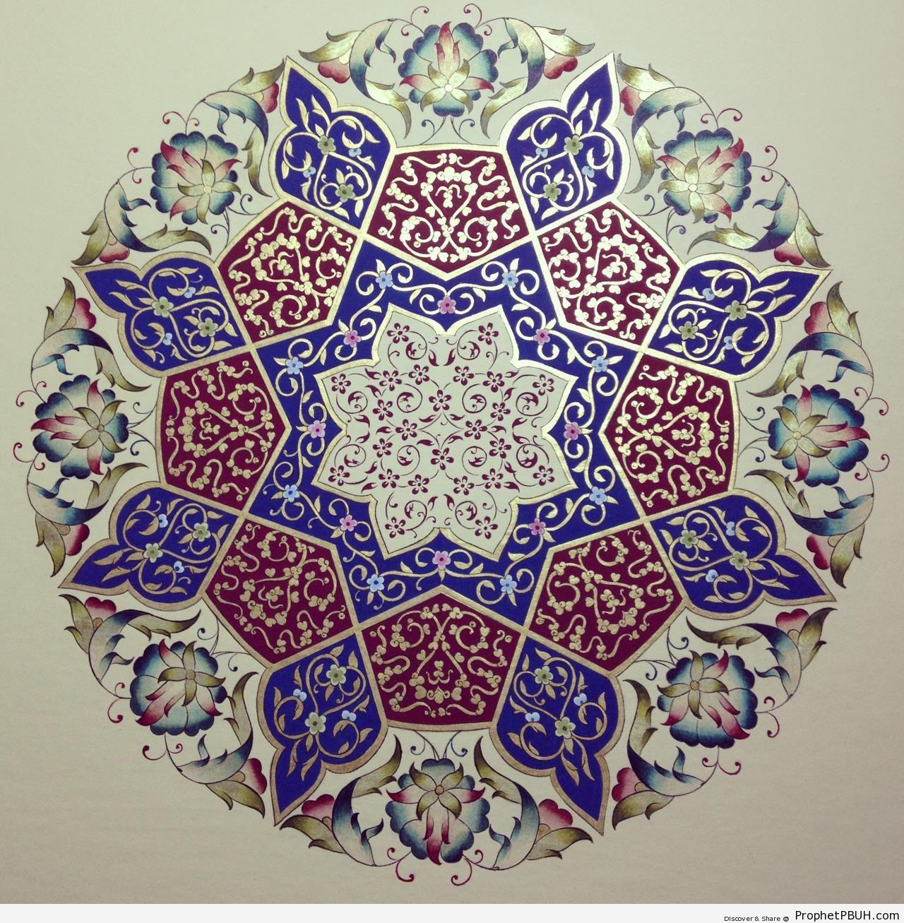 High Resolution Islamic Decoration - Zakhrafah-Arabesque (Islamic Artistic Decoration)