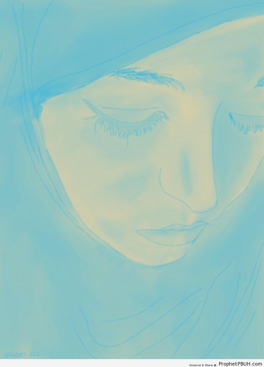 Hijab Sketch - Drawings