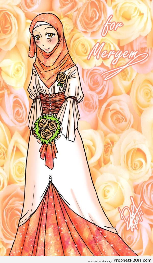 Hijabi & Bouquet - Drawings