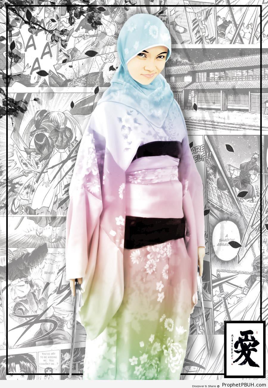 Hijabi Samurai - Drawings