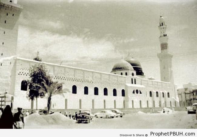 Historic Photo of the Prophet-s Mosque (al-Madinah, Saudi Arabia) - Al-Masjid an-Nabawi (The Prophets Mosque) in Madinah, Saudi Arabia