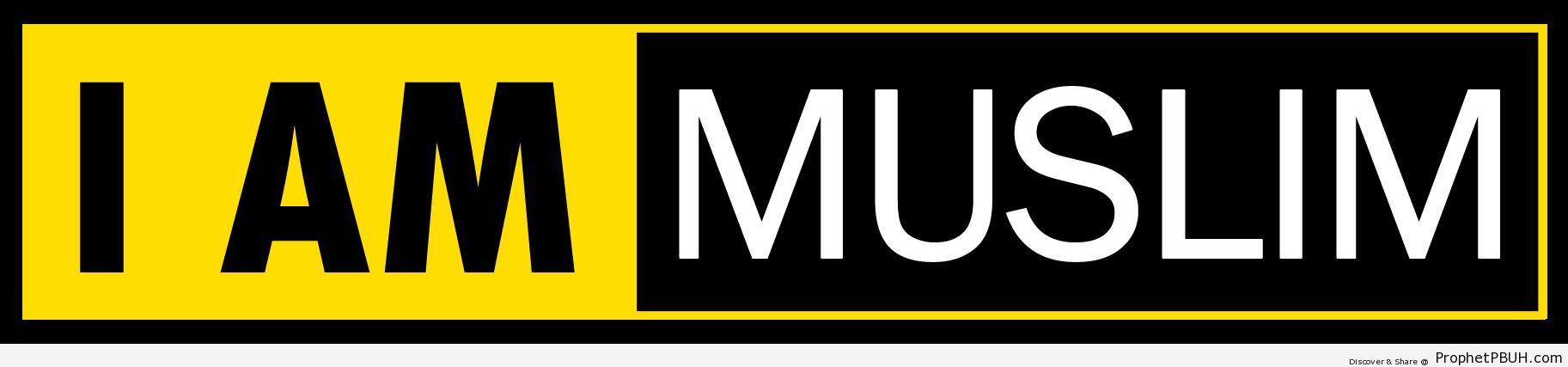 I AM MUSLIM Sticker - Uncategorized