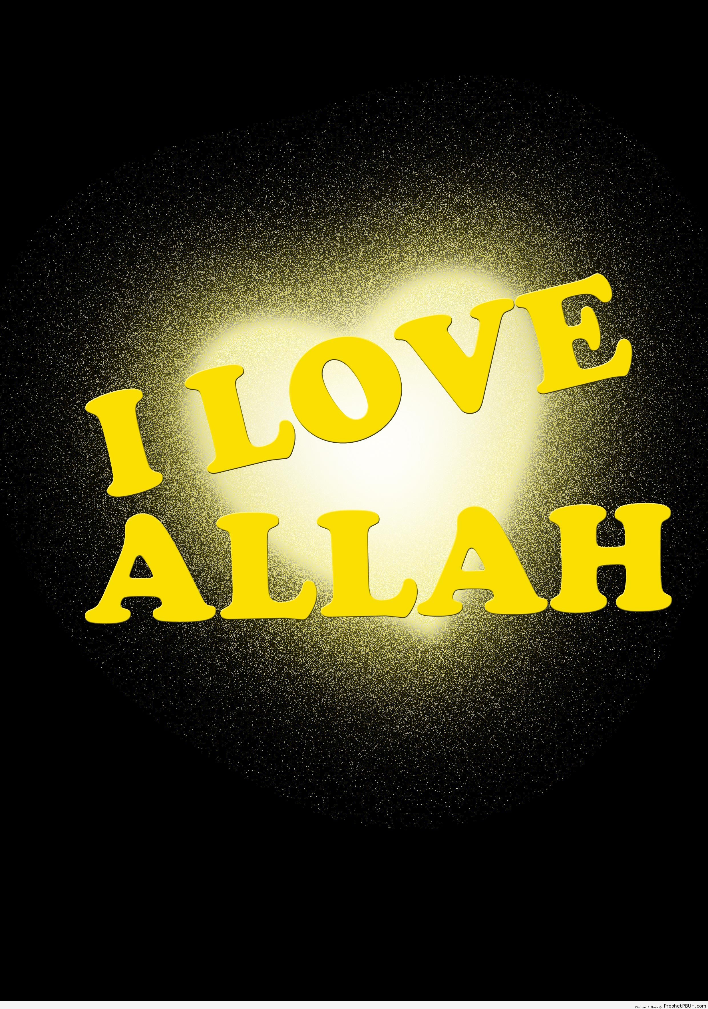 I Love Allah Poster - -I Love Allah- Posters -