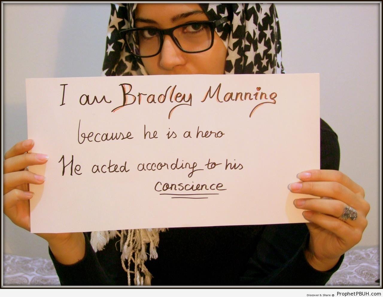 I am Bradley Manning Poster - Bradley Manning Posters