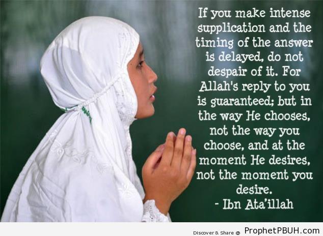 Ibn -Ata Allah on Supplication - Dua
