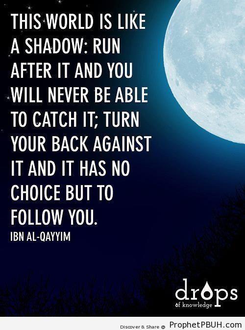 Ibn al-Qayyim- This World is Like a Shadow - Ibn Qayyim Al-Jawziyyah Quotes
