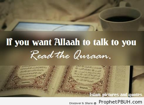 If you want Allah to talk to you - -Read Quran- Posters
