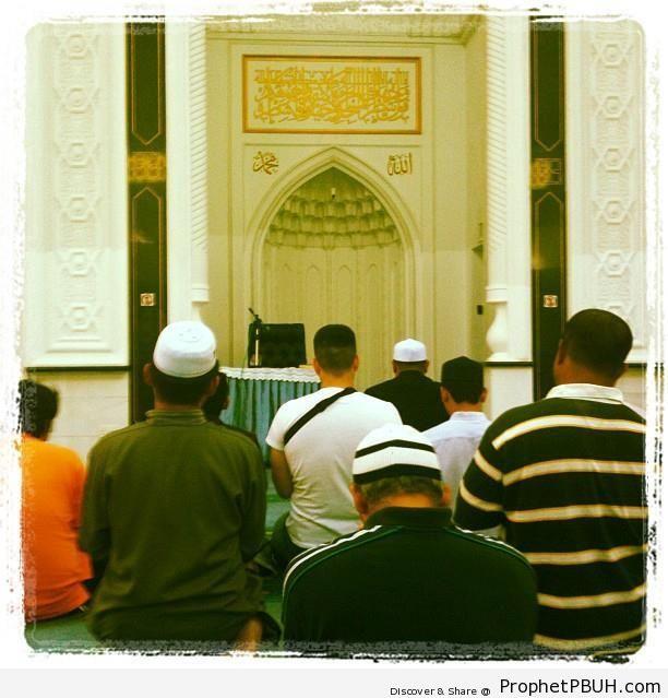 Inside Kuala Lumpur-s KLCC Mosque - As Syakirin Mosque (Masjid As Syakirin or KLCC Mosque) in Kuala Lumpur, Malaysia