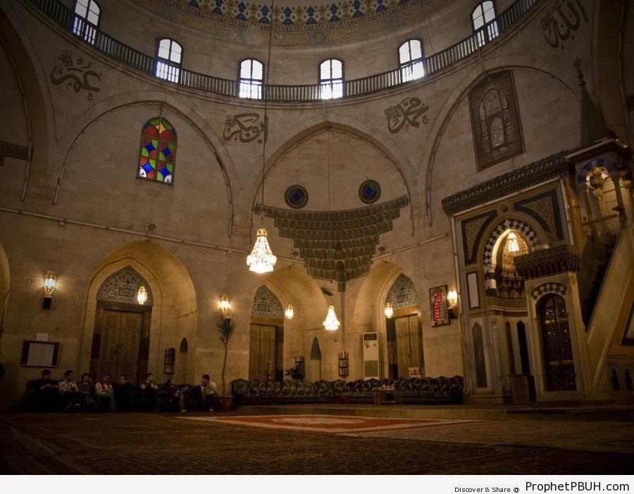 Inside a Mosque in Aleppo, Syria - Aleppo (Halab), Syria -Picture