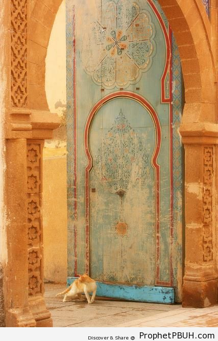 Islamic Decorations on Door - Zakhrafah-Arabesque (Islamic Artistic Decoration)