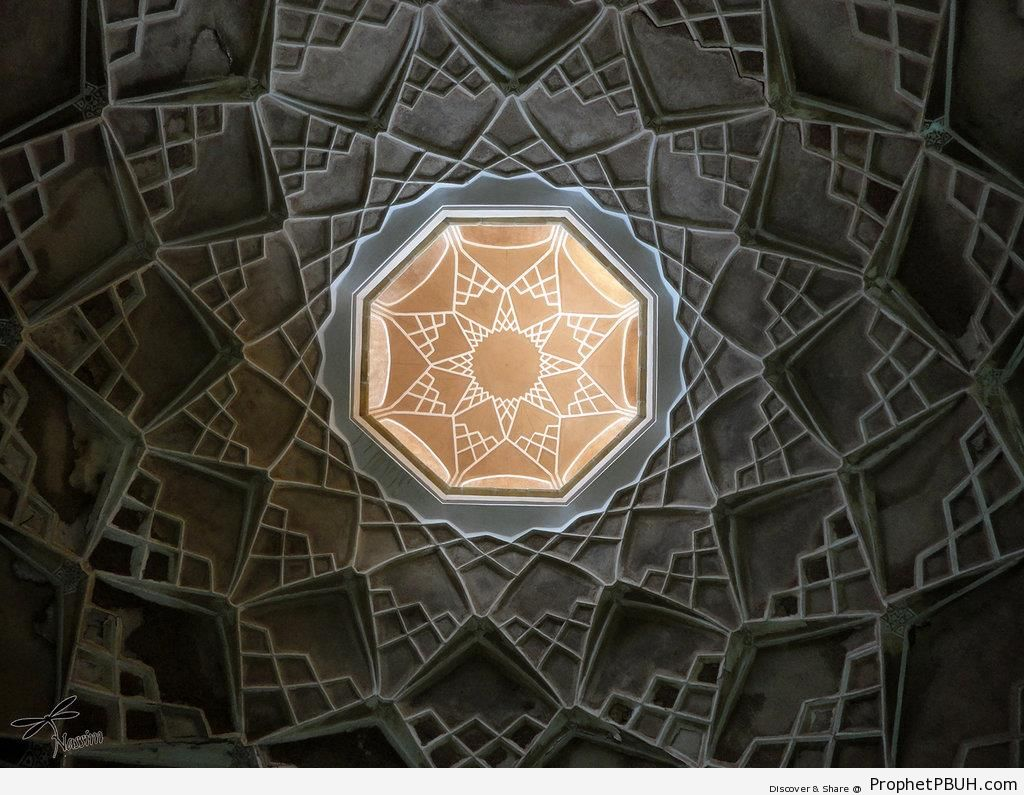 Islamic Geometric Art, Abbasian House, Kashan, Isfahan - Islamic Geometric Designs