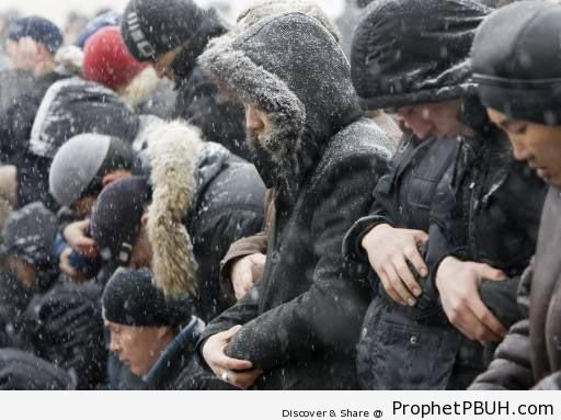 Kazakhstan Jum'a (Friday) Prayer in the Snow - Kazakhstan
