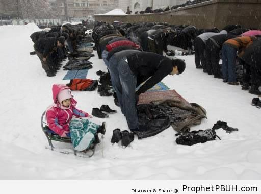 Kazakhstan Jum-a (Friday) Prayer in the Snow - Kazakhstan