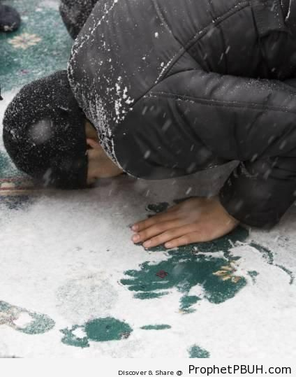 Kazakhstan Jum-a (Friday) Prayer in the Snow - Photos of Muslim People