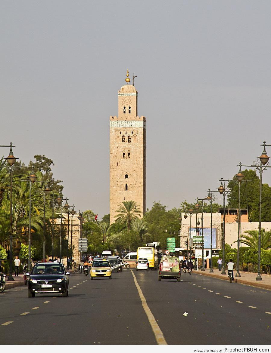 Koutibia Minaret From the Streets of Marrakech - Islamic Architecture
