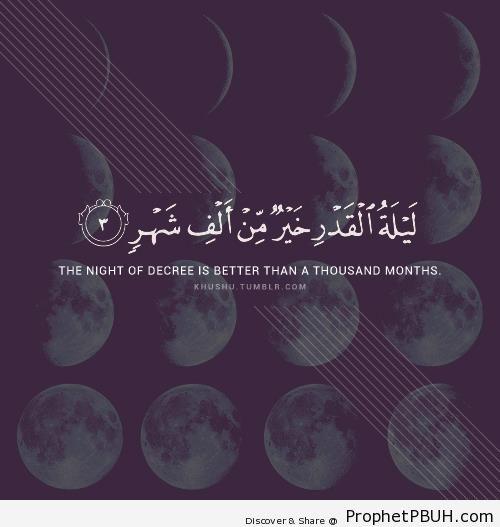 Lailatul Qadr - Islamic Quotes