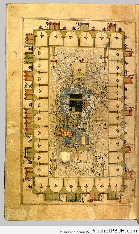Leaf from Futuh al-Haramain (A Guide for Pilgrims) - Drawings