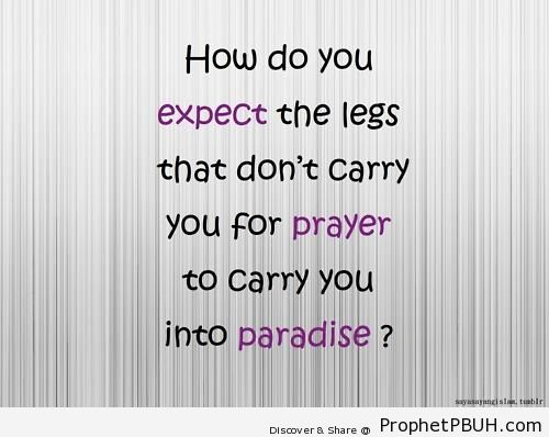 Legs - Islamic Quotes About Jannah (Paradise)