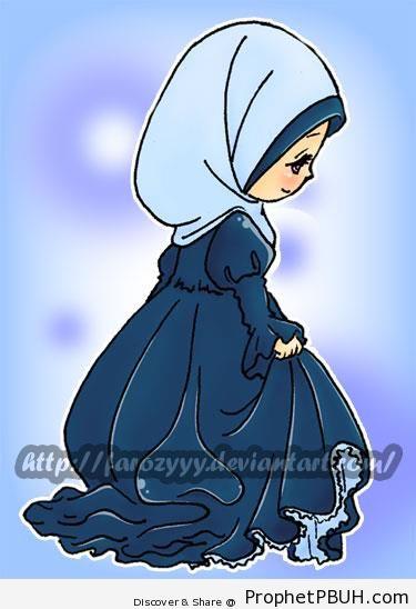 Little Girl in Hijab - Drawings