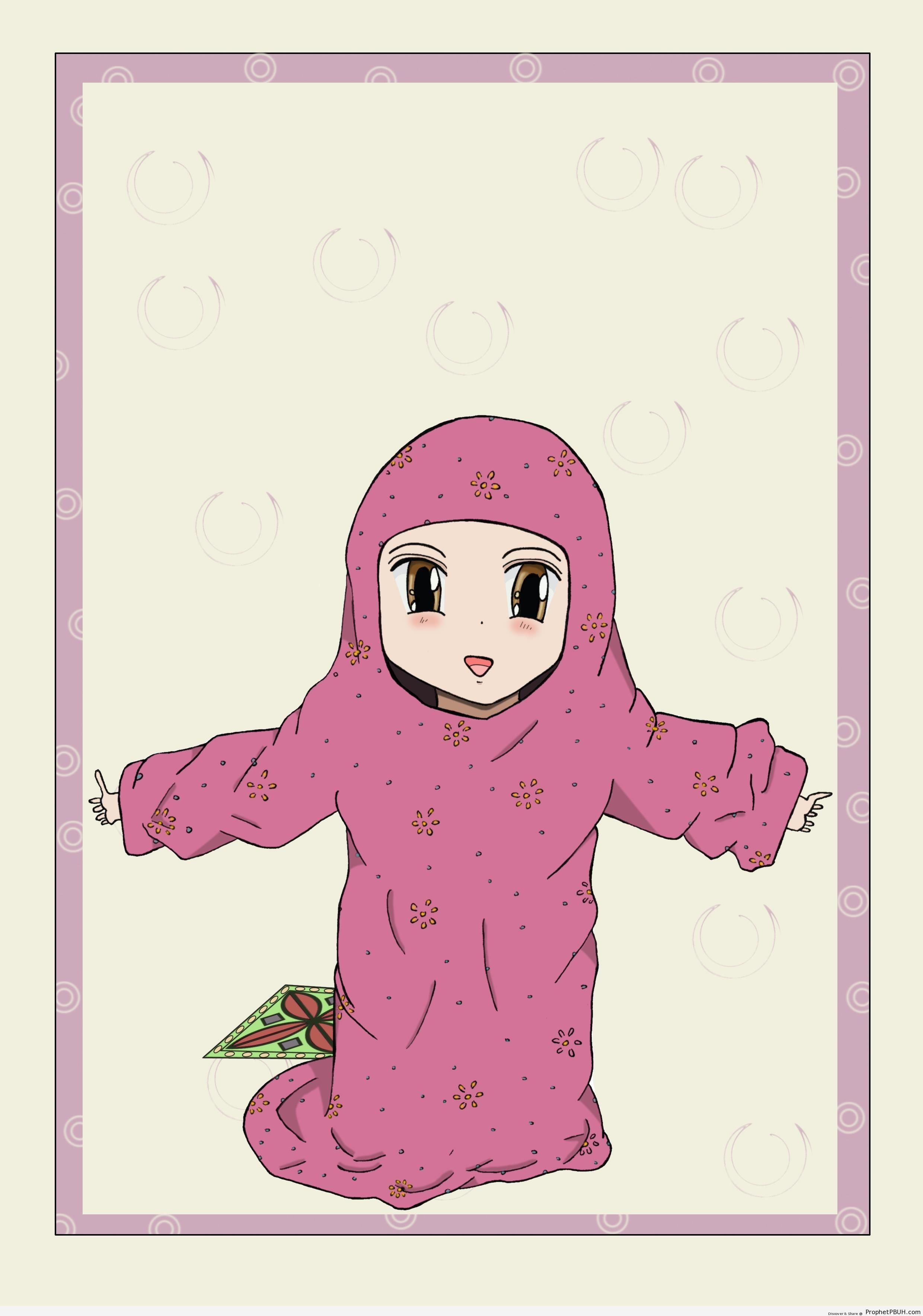 Little Girl in Too Large Hijab - Drawings