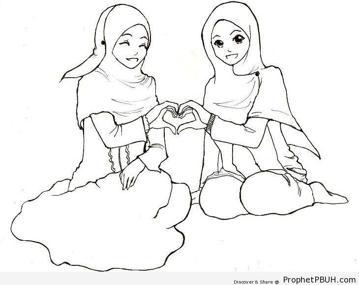 Loving Friends - Drawings