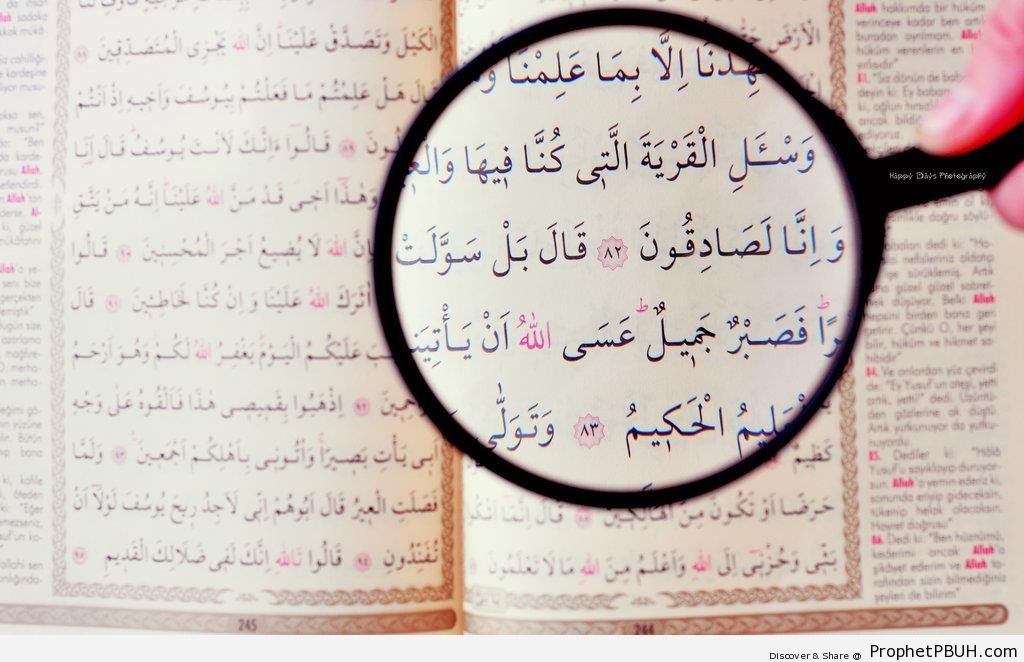 Magnifier on Surat Yusuf (Chapter 12 of the Quran) - Mushaf Photos (Books of Quran)