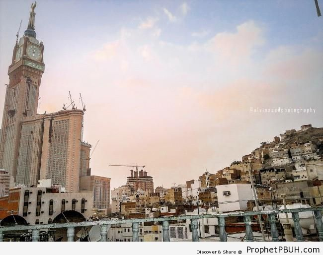 Makkah Clock Tower From the City - Artist- Alvin A. Saed