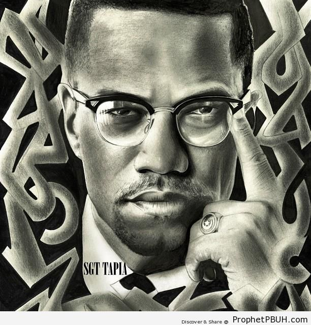 Malcolm X Poster - Drawings