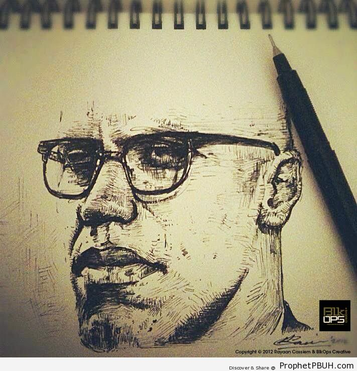 Malcolm X Sketch - Drawings