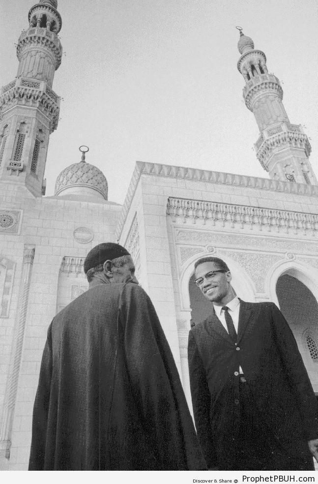 Malcolm X in Mecca - al-Masjid al-Haram in Makkah, Saudi Arabia