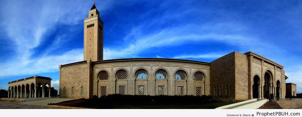 Malik ibn Anas Mosque Panorama in Carthage, Tunisia - Islamic Architecture