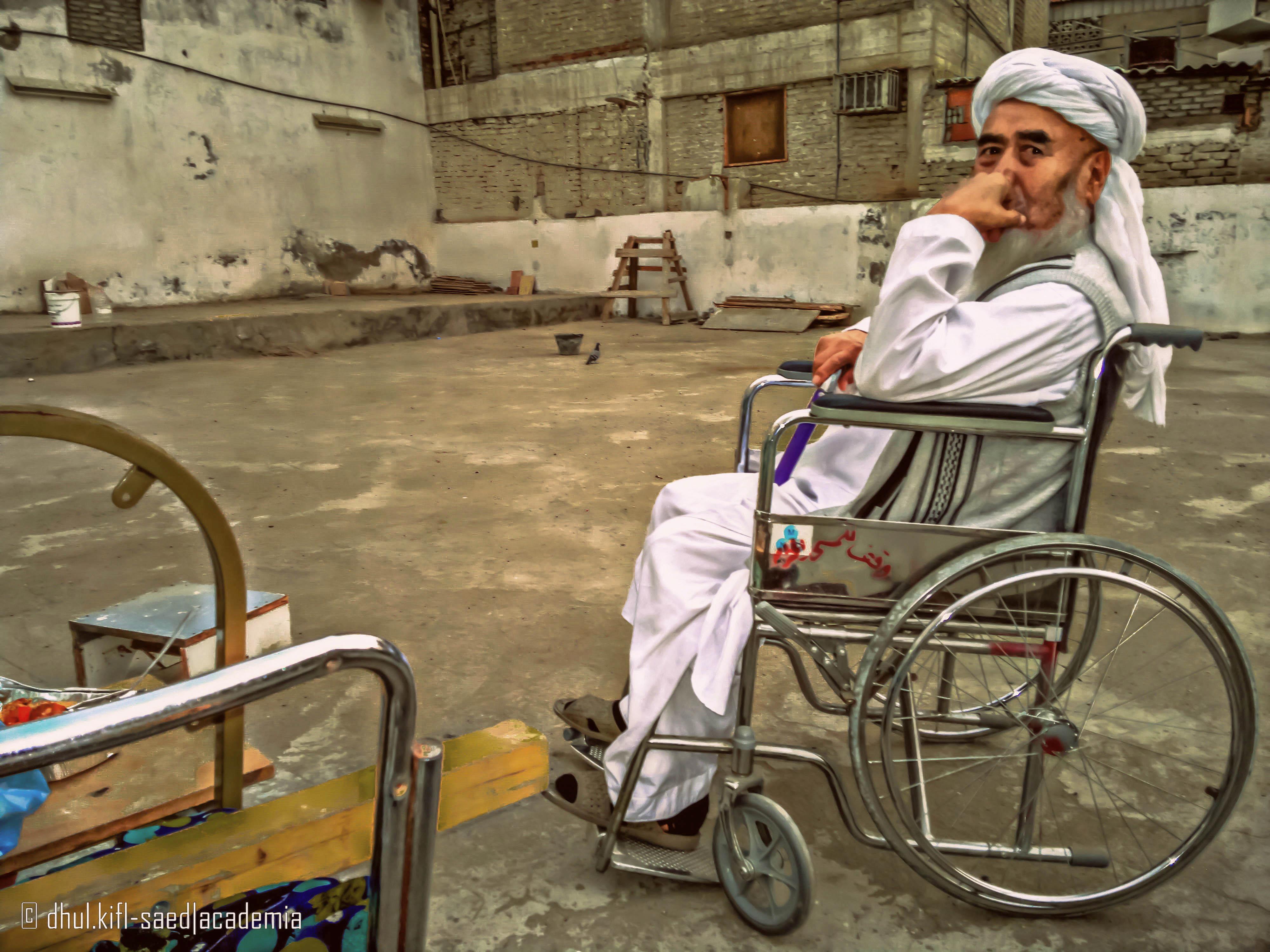 Man Living Near Masjid al-Haram (Makkah, Saudi Arabia) - Artist- Alvin A. Saed -Picture