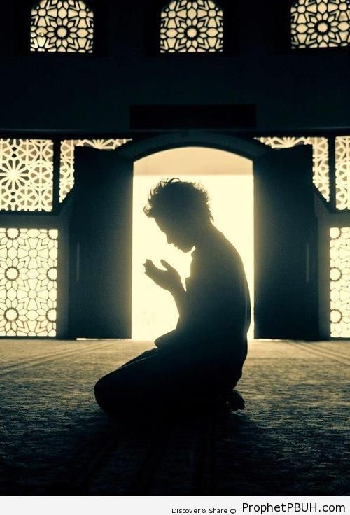 Man in Supplication - Islamic Architecture