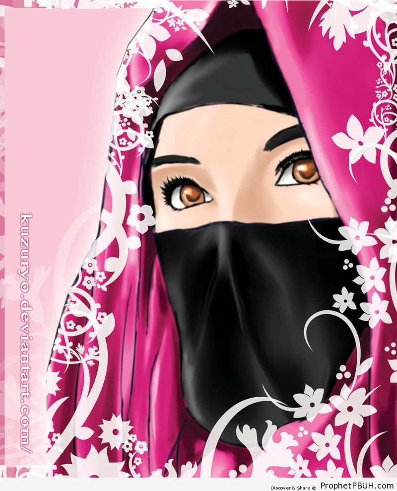 Manga Niqabi Lady - Drawings