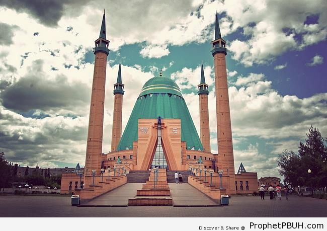 Mashkhur Jusup Central Mosque in Pavlodar, Kazakhstan - Islamic Architecture -Picture