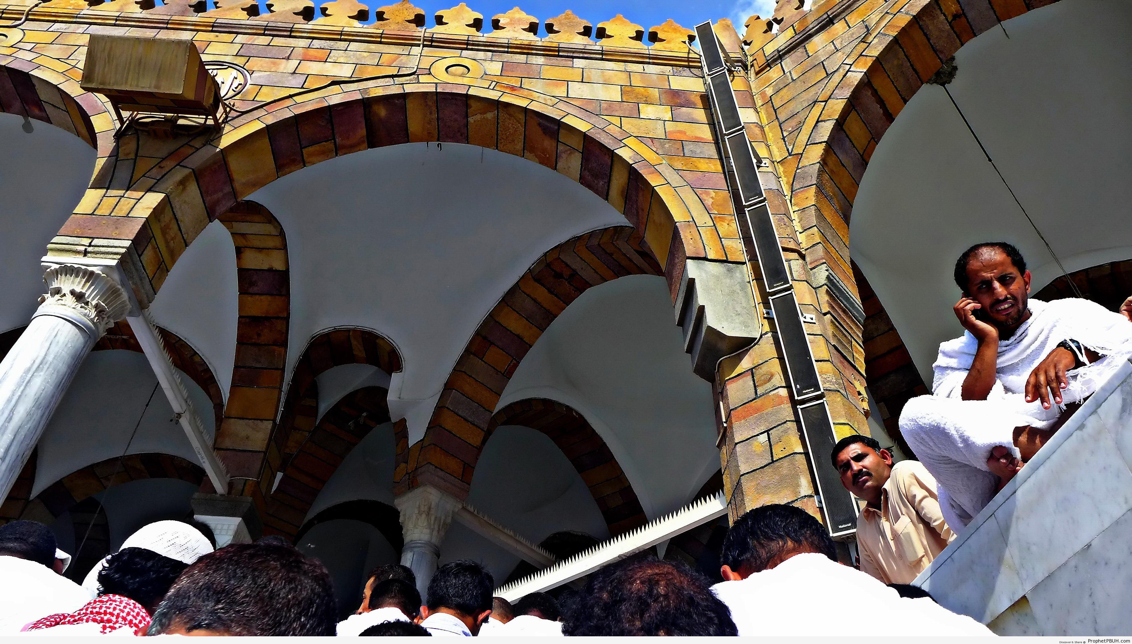 Men Walking Into Masjid al-Haram for Friday Prayers (Makkah, Saudi Arabia) - al-Masjid al-Haram in Makkah, Saudi Arabia -Picture