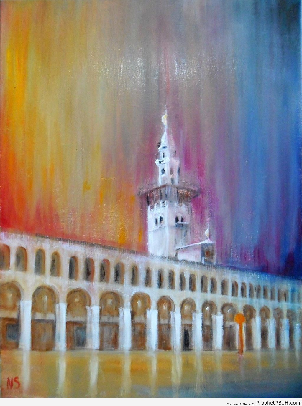 Minaret Painting - Islamic Paintings