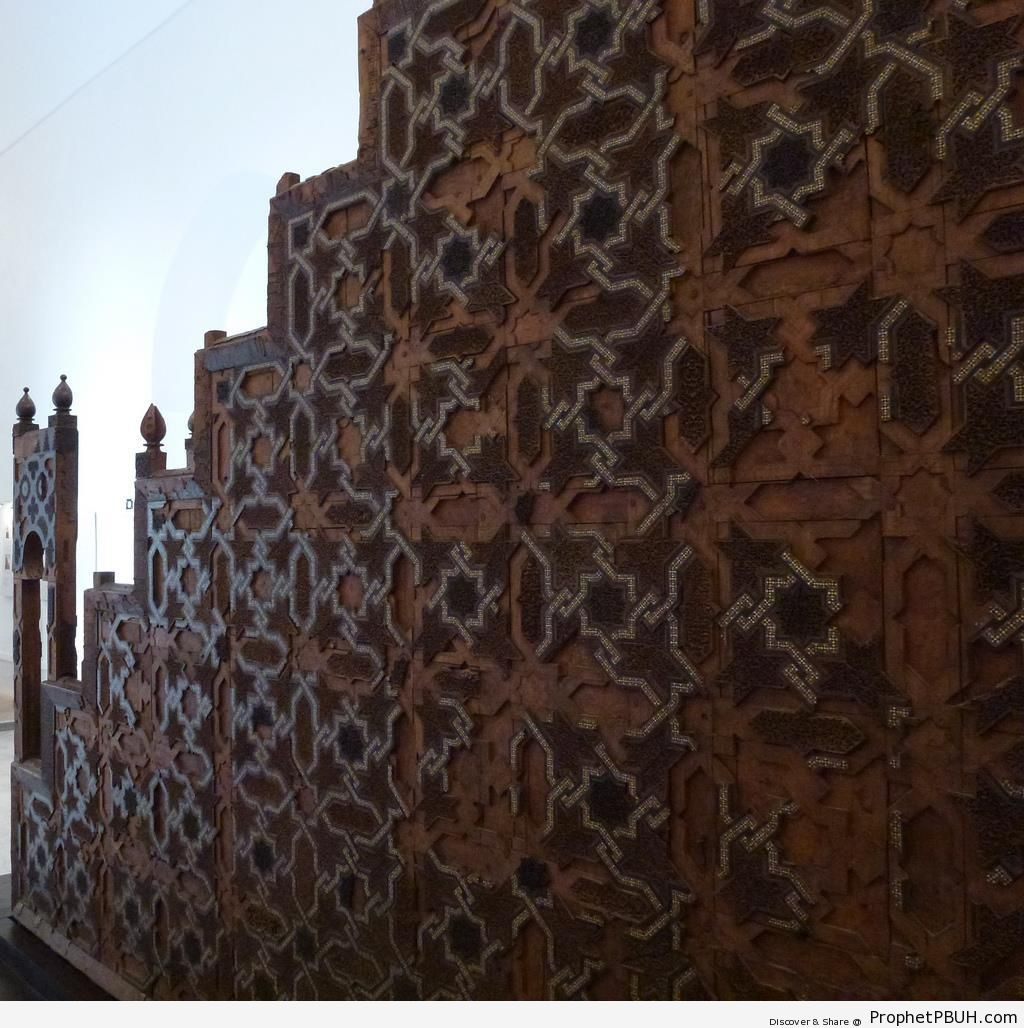 Minbar of the Koutibia Mosque in Marrakech, Morocco - Islamic Architecture -Picture