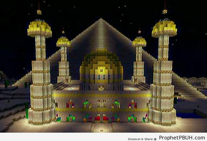 Minecraft mosque islamic architecture picture prophet pbuh peace be upo - Minecraft and architecture ...