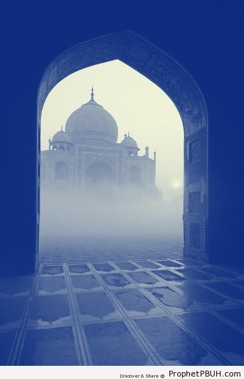 Misty Taj Mahal - Agra, India
