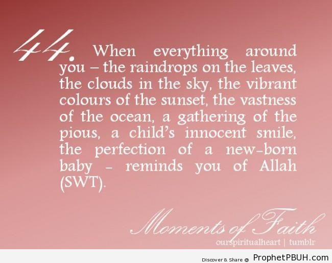 Moments of Faith - Islamic Quotes
