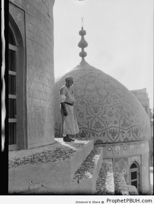 Muezzin (Haiderkhana Mosque, Baghdad, Iraq, 1932) - Baghdad, Iraq