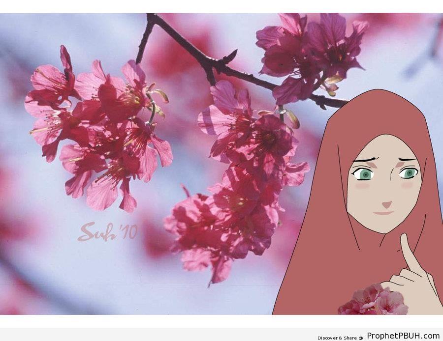 Muslim Girl - Drawings -006
