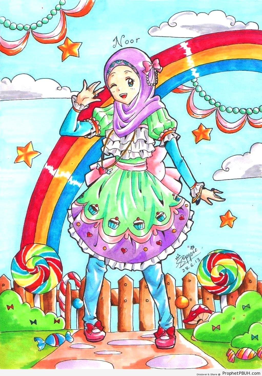 Muslim Girl - Drawings -008
