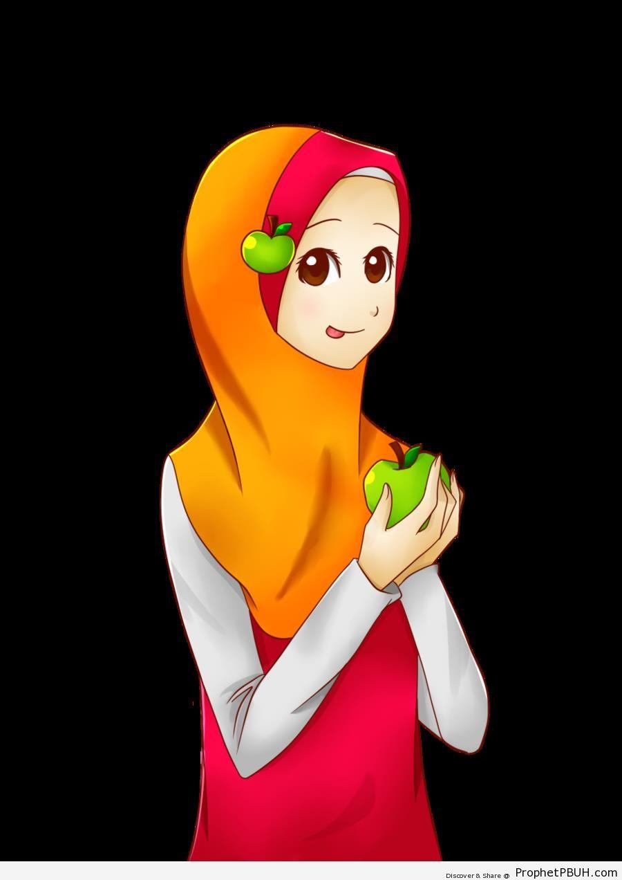 Muslim Girl (Manga & Anime Style Drawing)` - Drawings of Female Muslims (Muslimahs & Hijab Drawings)