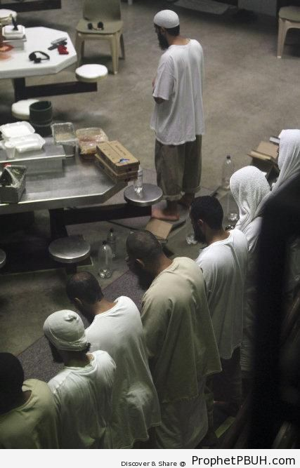 Muslim Prisoners Performing Salah (Guantanamo) - Photos