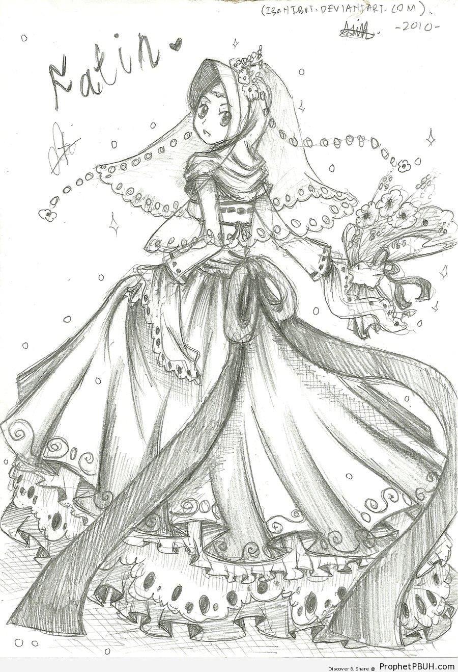 Muslim Wedding Dress Style - Drawings
